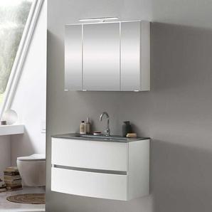 Waschraum Set in Weiß Made in Germany (zweiteilig)