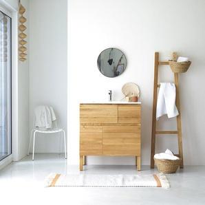Waschtisch aus Eiche mit Keramikwaschbecken Loft Sil Trendy