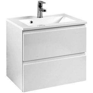 Waschtisch COMO-03, Hochglanz weiß, B x H x T ca.: 60 x 56 x 47cm