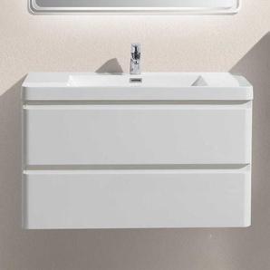 Waschtisch in Wei� Einlass-Waschbecken