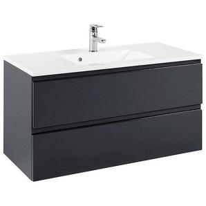 Waschtisch mit 100cm Waschbecken COMO-03, Hochglanz grau, B x H x T ca.: 100 x 56 x 47cm