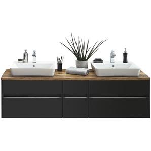 Waschtischkombination  Starnberger See ¦ grau ¦ Maße (cm): B: 172,6 Schränke  Badschränke  Bad-Unterschränke » Höffner