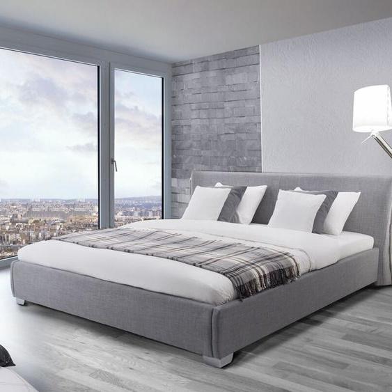 Wasserbett Polsterbezug grau 140 x 200 cm PARIS