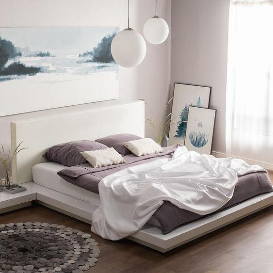 Wasserbett weiß 160 x 200 cm ZEN