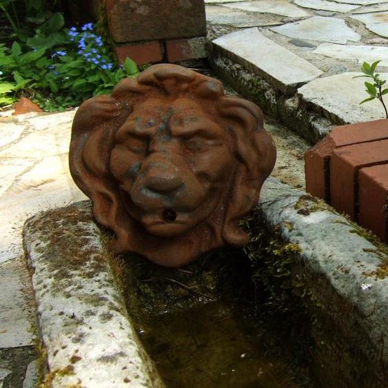 Wasserspeier Löwe - Auslauf für Wandbrunnen Brunnenauslauf, Speier Wasserauslauf