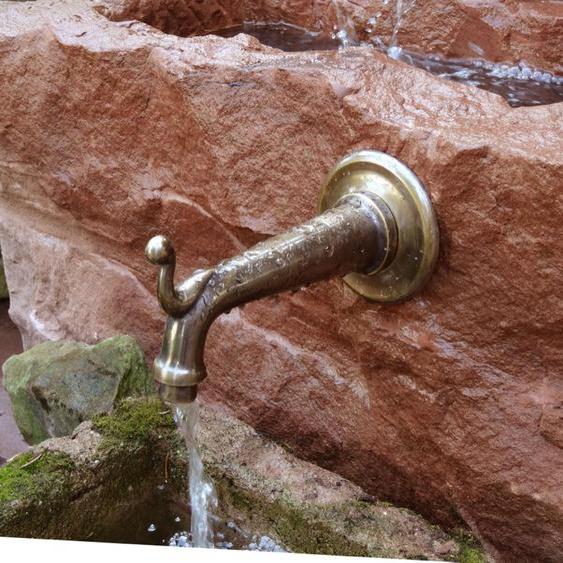Wasserspeier, venezianischer Brunnenspeier, Messing, Wasserauslauf , wie antik