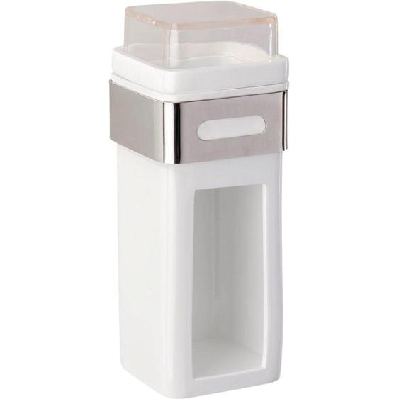 Wattepadspender »Premium Plus«, 7.5x18.5x9 cm (BxHxT), WENKO, Material Edelstahl