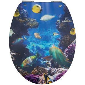 WC-Sitz Ozean mit 3D-Effekt und Absenkautomatik, blau