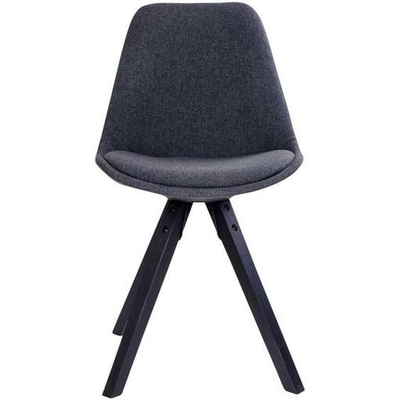 Webstoff Stühle in Dunkelgrau Skandi Design (2er Set)