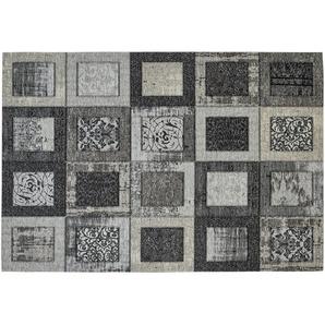 Webteppich | grau | Synthethische Fasern, 34% Polyacryl Chenille, 33% Baumwolle, 33% Polyester | 155 cm | Möbel Kraft