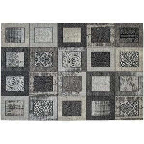 Webteppich  Harmonie | grau | Synthethische Fasern, 34% Polyacryl Chenille, 33% Baumwolle, 33% Polyester | 130 cm |