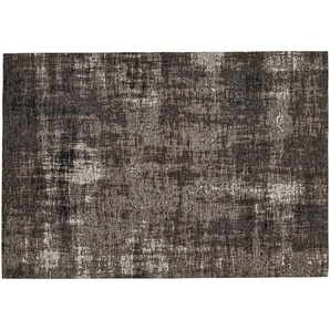 Webteppich  Harmonie | grau | Synthethische Fasern, 33% Baumwolle, 33% Polyester, 34% Polyacryl Chenille | 60 cm |