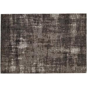 Webteppich  Harmonie | grau | Synthethische Fasern, 33% Baumwolle, 33% Polyester, 34% Polyacryl Chenille | 80 cm |