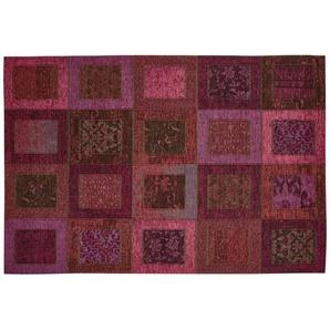 Webteppich  Harmonie | lila/violett | Synthethische Fasern, 34% Polyacryl Chenille, 33% Baumwolle, 33% Polyester | 155 cm |