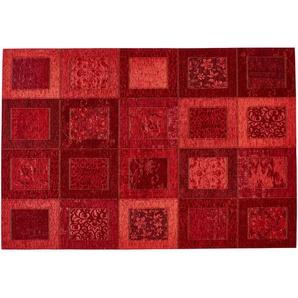 Webteppich  Harmonie | rot | Synthethische Fasern, 34% Polyacryl Chenille, 33% Baumwolle, 33% Polyester | 130 cm |