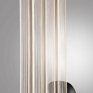 Weckbrodt Fadenvorhang Leon 240 cm, Ösen, 148 cm beige Gardinen Vorhänge