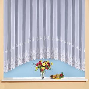 Weckbrodt Gardine »Berlin«, H/B 145/450 cm, weiß, transparenter Stoff
