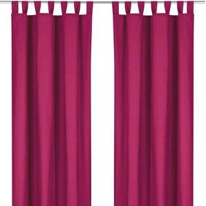 Weckbrodt Vorhang »Sento«, H/B 230/125 cm, rot, blickdichter Stoff