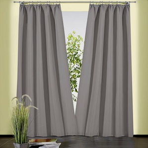 Weckbrodt Vorhang »Sento«, H/B 230/135 cm, grau, blickdichter Stoff