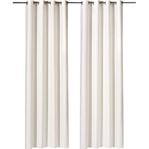 Weckbrodt Vorhang »Vito«, H/B 245/140 cm, beige, blickdichter Stoff