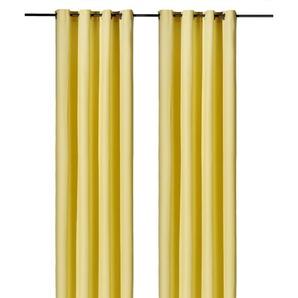 Weckbrodt Vorhang »Vito«, H/B 245/140 cm, gelb, blickdichter Stoff
