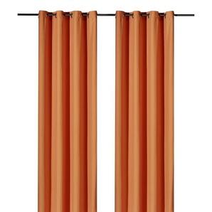 Weckbrodt Vorhang »Vito«, H/B 245/140 cm, orange, blickdichter Stoff