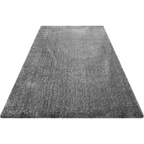 Hochflor-Teppich, Ella, Wecon home Basics, rechteckig, Höhe 40 mm, maschinell gewebt
