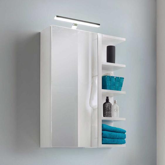 Weißer Spiegelschrank mit LED Beleuchtung schmal