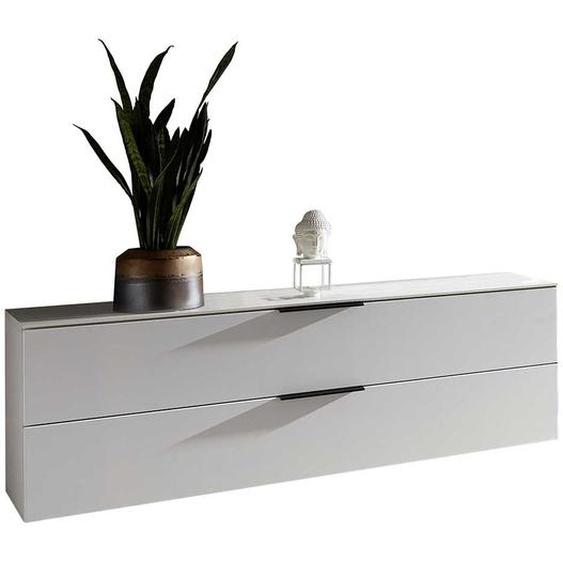 Weißes Lowboard mit Klappe 140 cm breit
