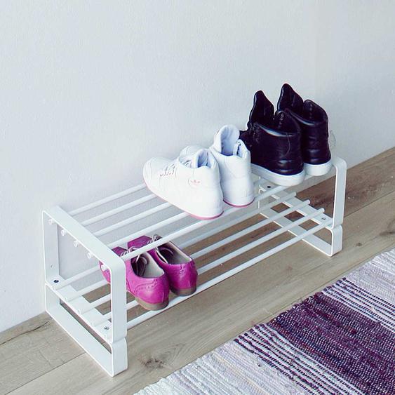 Weißes Schuhregal aus Stahl 70 cm breit