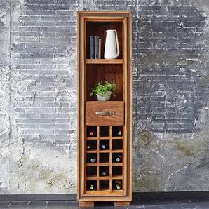 Wein Regal aus Sheesham Massivholz Landhausstil