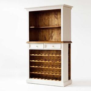 Weinschrank in Wei�-Honigfarben Landhausstil