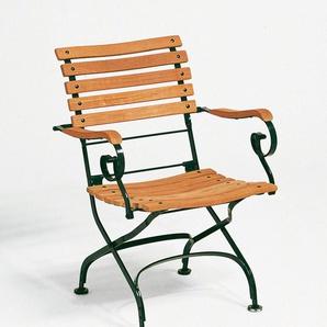 Weishäupl - Classic Sessel curved - dunkelgrün - outdoor