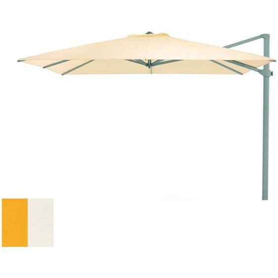 Weishäupl - Freiarmschirm - rund Ø 350 cm - Acryltuch  gelb-weiß - outdoor