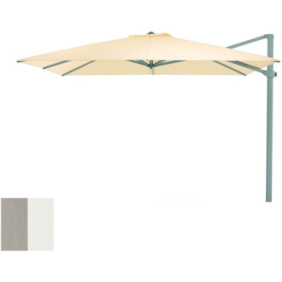Weishäupl - Freiarmschirm - rund Ø 350 cm - Acryltuch  grau-weiß - outdoor