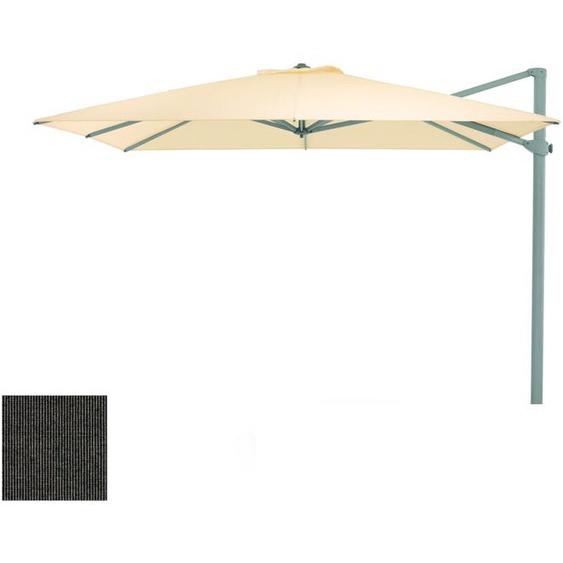 Weishäupl - Freiarmschirm - rund Ø 350 cm - Acryltuch  Rips schiefer - outdoor