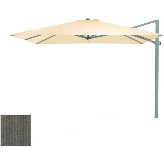 Weishäupl - Freiarmschirm - rund Ø 350 cm - Acryltuch  Rips steingrau - outdoor
