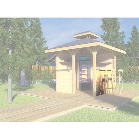 Weka Bausatz Tresenwand 28 mm Natur für Pavillon Gartenoase 651 Gr. 1