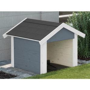 Weka Garage für Mähroboter Grau