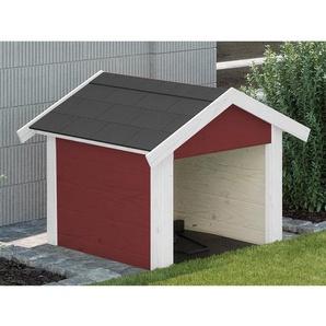Weka Garage für Mähroboter Rot