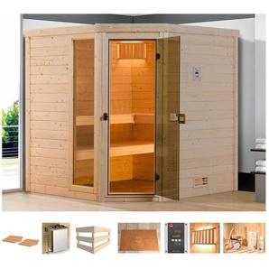 WEKA Sauna »Arendal 2«, 198x198x205 cm, 7,5 kW Bio-Kombiofen mit ext. Steuerung