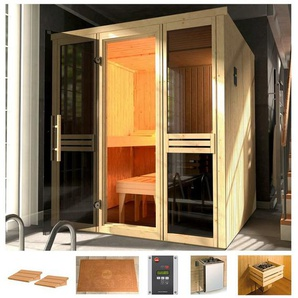 WEKA Sauna »Classic«, 177x194x199 cm, 68 mm, 7,5-kW-Ofen mit ext. Steuerung