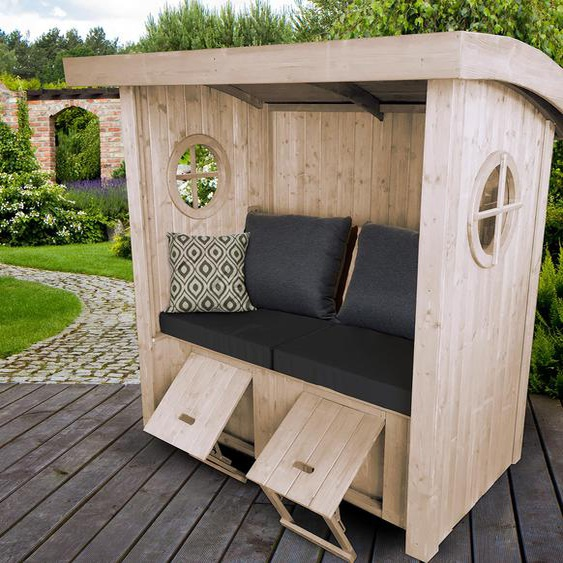 WEKA-Sitzlaube »Merano« - naturfarben - Holz -