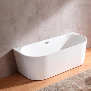 welltime Badewanne New Granada, B/T: 170 / 80 cm, freistehende Wanne freistehend weiß Badewannen Whirlpools Bad Sanitär