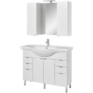 welltime Badmöbel-Set »Granada Waschplatz 100«, (Set, 4-St), hängende oder stehende Montage möglich