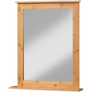 WELLTIME Badspiegel »Bambus New«, Wandspiegel 54-58 cm breit