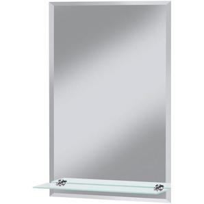 WELLTIME Badspiegel »Flex«, 40 x 60 cm, mit Glasablage und Facettenschliff