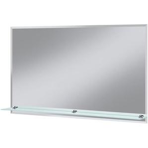 WELLTIME Badspiegel »Flex«, 100 x 60 cm, mit Glasablage und Facettenschliff