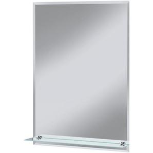 WELLTIME Badspiegel »Flex«, 50 x 70 cm, mit Glasablage und Facettenschliff