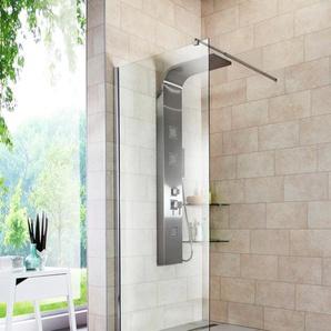 welltime Duschwand Duschabtrennung, Duschabtrennung in 4 verschiedenen Breiten (80-120cm) B/H: 80 cm x 190 farblos Duschkabinen Duschen Bad Sanitär